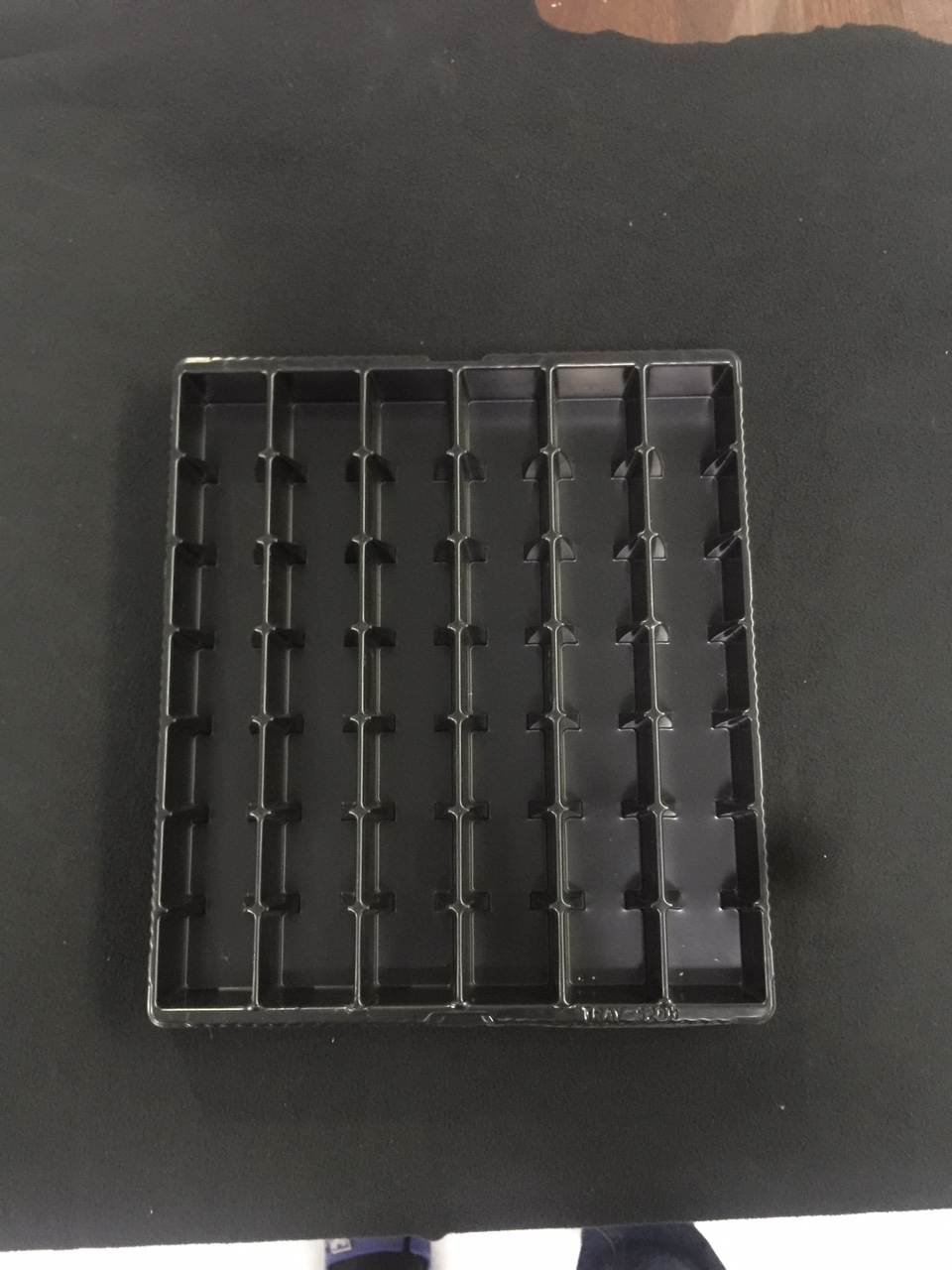 Plastic trays for electronic components